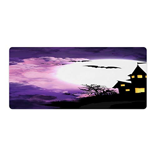 Halloween Castle Desktop and Laptop Mouse pad 1 Pack 800x300x3mm/31.5x11.8x1.1 in