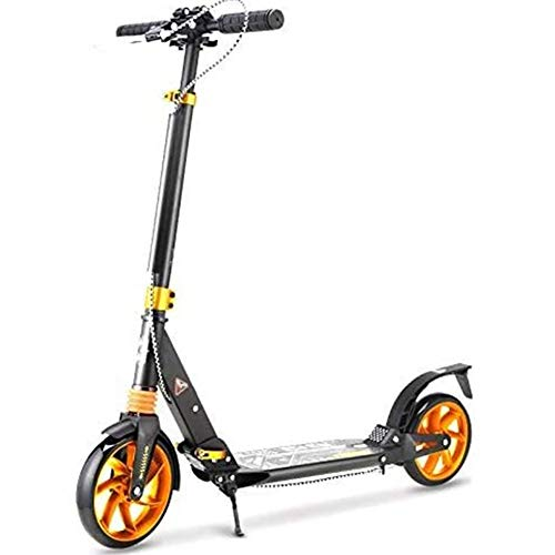 DSHUJC Faltbare Adult Scooter, Zweirad-Roller, Einknopf-Faltung, Aluminium-Legierung Material, Campus Stadt männliche und weibliche Reise