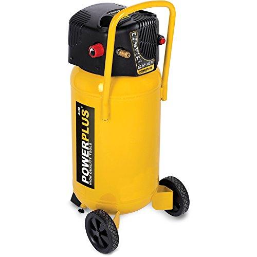 PowerPlus POWX1750 POWX1750-Compresor 1500w 50l Sin aceite, Jaune, X1750 (50 Liter)