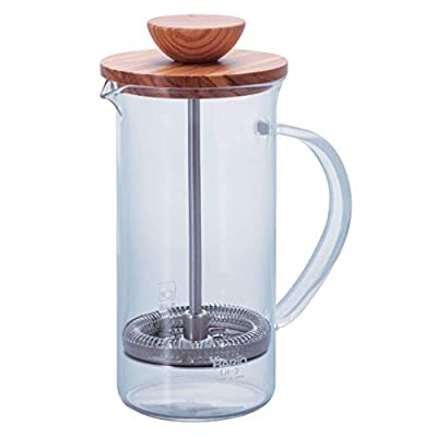 Hario Olivewood Coffee and Tea Press, 300ml