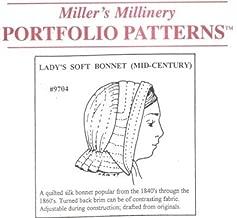 1840's to 1870's Mid-Century Lady's Soft Bonnet Pattern