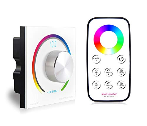Switch Knob RGB Touch Panel Dimmer RF Wireless Remote 86 Style Socket Touch Panel Controller DC12V-24V