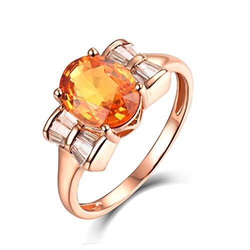 KnSam Anillo de mujer de oro auténtico de 18 quilates (750), anillo de boda 750, anillo de boda para mujer, anillo de boda de oro rosa 65 (20,7)