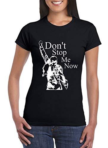 UZ Design Camiseta Freddie Mercury Mujer Chica Niña Don't Stop Me Now Grupos de Rock, Niño 3-4 Años
