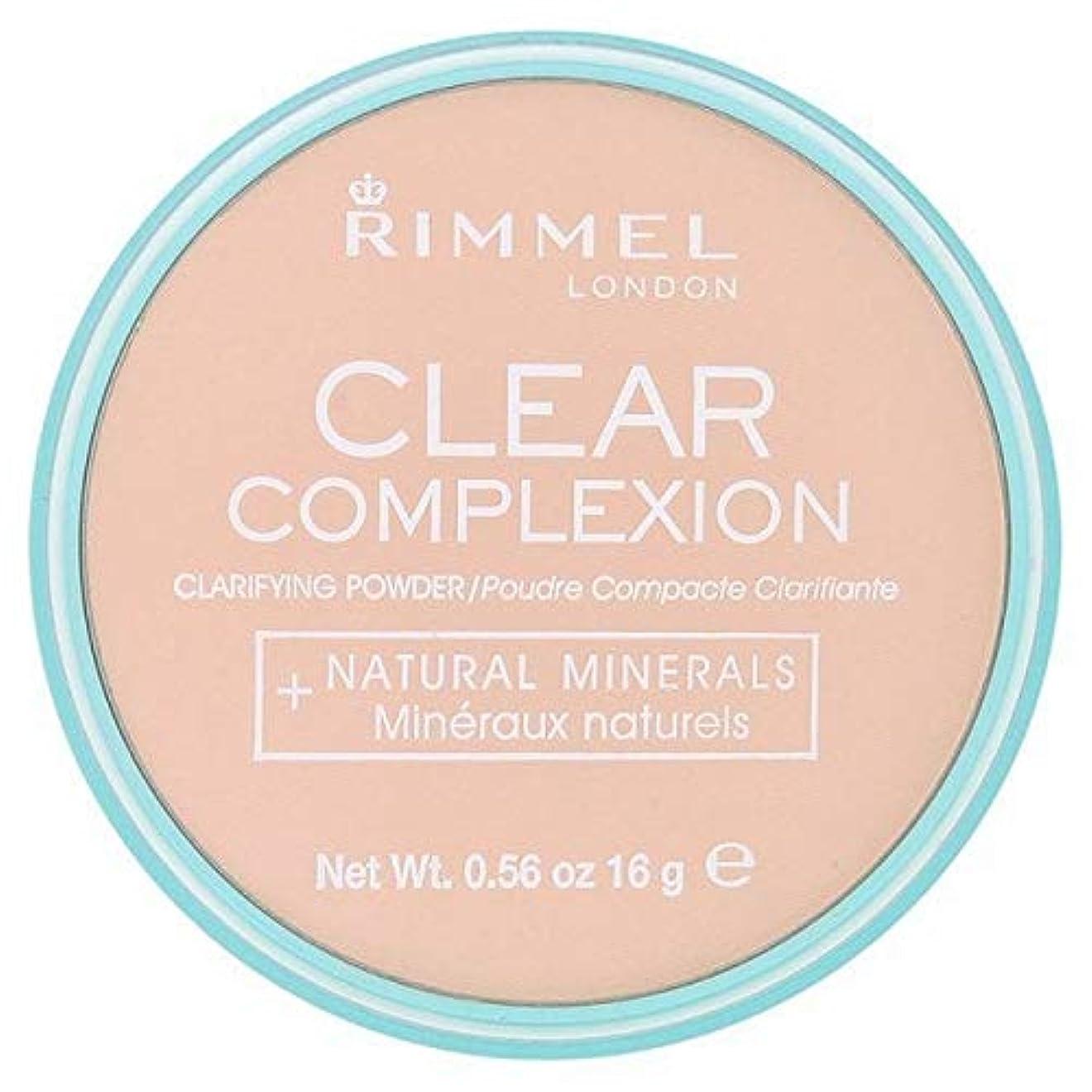 ホテルバーターメンタル[Rimmel ] 21透明リンメル明確な顔色粉末 - Rimmel Clear Complexion Powder Transparent 21 [並行輸入品]