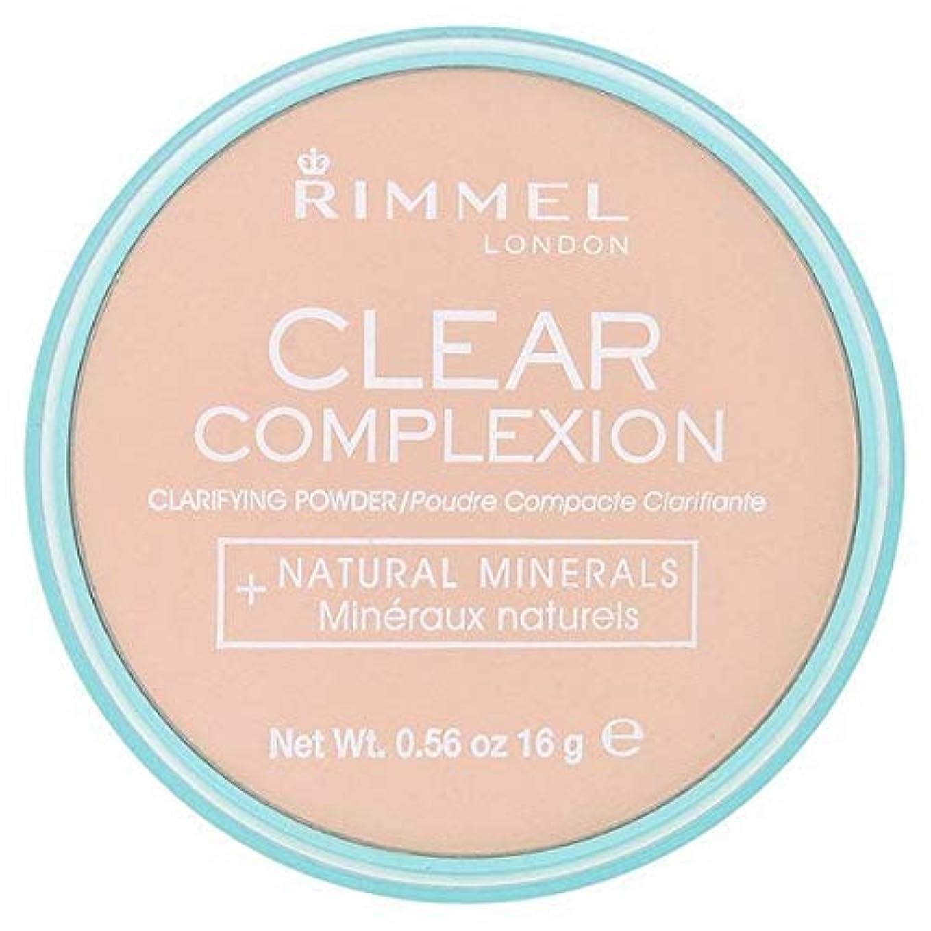 委員会お金ゴム腫瘍[Rimmel ] 21透明リンメル明確な顔色粉末 - Rimmel Clear Complexion Powder Transparent 21 [並行輸入品]