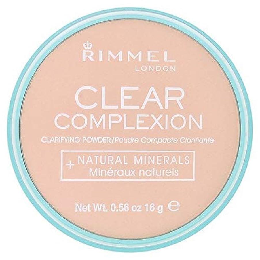 れる精神舌な[Rimmel ] 21透明リンメル明確な顔色粉末 - Rimmel Clear Complexion Powder Transparent 21 [並行輸入品]