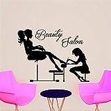 Salón de belleza Manicura Esteticista Manicura Chica de la uña del pie Etiqueta de la pared Removible PVC Decoración de moda para el hogar44 * 49cm
