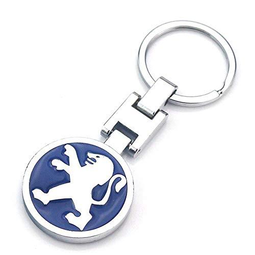 Fitracker 3D-Auto-Logo, Metalllegierung, doppelseitig, Auto-Schlüsselanhänger, Zubehör mit Geschenk-Box, Peugeot*