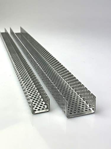 Aluminium 1,5mm dick U Profil Winkel Lochblech RV3-5 Kiesfang Rinne Leiste Alu, Größe nach Maß (1000 mm, Schenkel A: 35mm / B: 40mm)
