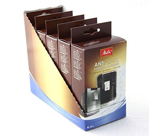 Melitta 981854 Entkalker Anti Calc Espresso Machines 20 x 40g