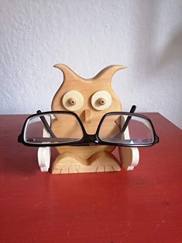 Brillenhalter Brillenständer Holz Brillenablage Stiftehalter Schreibtischablage Eule