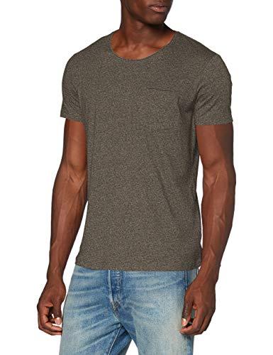 edc by ESPRIT Herren 990CC2K306 T-Shirt, 364/OLIVE 5, M