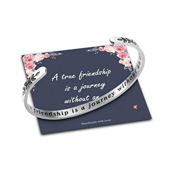 Bracelets for Women Personalized Gifts, Stainless Steel Engraved Funny Quote Inspirational Bracelet Birthday Christmas Funny Gifts for Friend, Mom, Daughter, Sister, Personalized Gift Come Gift Box