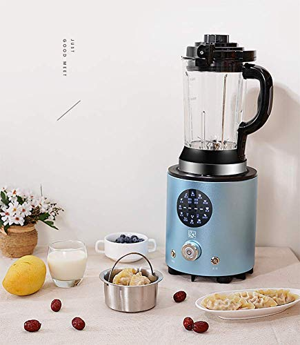 JXWWNZ Smoothie Blender, 12 in 1 Food Processor Multi-Function Kitchen Mixer System, 2000W High Speed Blender/Chopper/Grinder with 1000ml BPA-Free Bottle, Easy to Clean,Blue