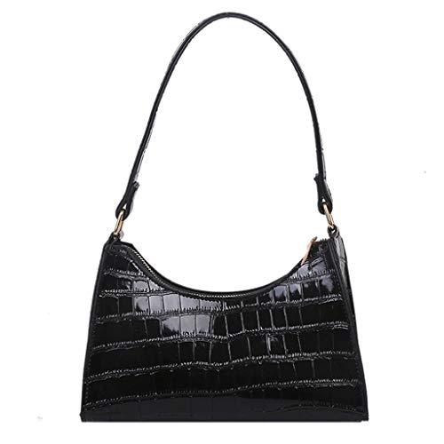 ENDUL Damenhandtasche Krokodil Retro PU Leder Classic Clutch Schulter Geldbörse Handtasche für Damen