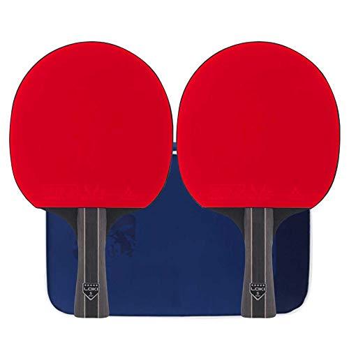 Lerten Raqueta de Tenis de Mesa,Palas de Ping Pong de Entrenamiento de 5 Estrellas con Bolsa de Almacenamiento,para Interior Exterior Hogar Escuela Y Club Deportivo/A/mango largo