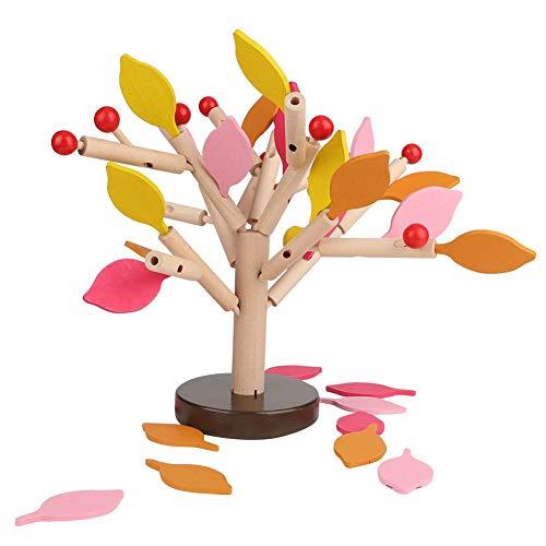 Zerodis Bloques de construcción de Madera Juego de árbol Puzzle DIY Juego de Azulejos de Madera para ensamblar Juguetes en 3D para niños Niños Hombres Niños y niñas en Edad(Hoja Amarilla)