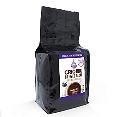 Crio Bru Ecuador French Roast 80oz Bag   Organic Healthy Brewed Cacao Drink   Great Substitute to Herbal Tea and Coffee   99% Caffeine Free Gluten Free Whole-30 Low Calorie Honest Energy