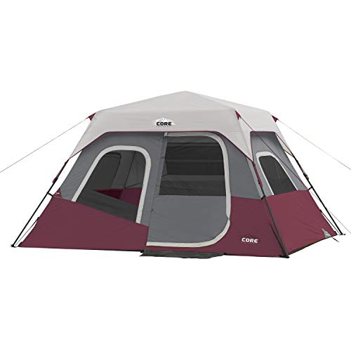 CORE 6 Person Instant Cabin Tent (Wine)