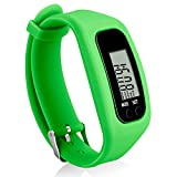 Bomxy Fitness Tracker Watch, Simply Operation Walking Running Pedometer with Calorie Burning and Steps Counting (81T-Green)