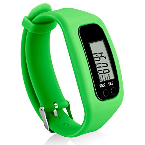 Bomxy Fitness Tracker Watch Simply Operation Walking Running Pedometer with Calorie Burning and Steps Counting greenA02101