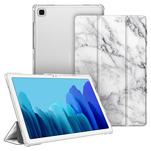 FINTIE Case for Samsung Galaxy Tab A7 10.4'' 2020 (SM-T500/SM-T505), Lightweight SlimShell with Translucent Frosted Stand Back Cover, Auto Wake/Sleep, Marble White