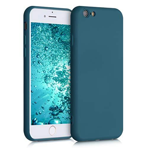 kwmobile Funda Compatible con Apple iPhone 6 / 6S - Carcasa de Silicona TPU para móvil - Cover Trasero en petróleo Mate