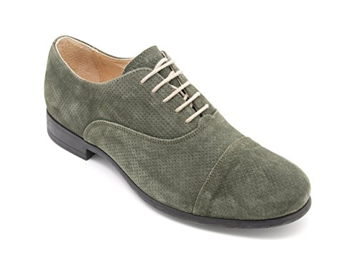 scarpe francesine uomo Frau Scarpe Francesine Uomo Made in Italy Tomaia camoscio Salvia Suola Gomma (EU 40)