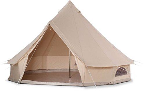 贅沢な防水綿のキャンバスの家族のキャンプテントキャンプ場のホテルのテントBell Tent
