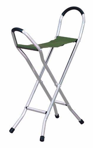 Homecraft - Bastón plegable con asiento grande