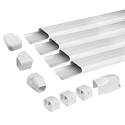 Air Jade AC Line Set Cover Kit, Decorative PVC Tubing Cover for Ductless Mini Split and Heat Pumps Systems & Central Air Conditioner, Condenser Units