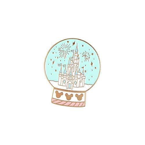 WEIXIAO WLKH Vintage máquina de Escribir Esmalte pasadores Gashapon Insignias máquina Piano broches de Cristal Bola de Registro Sombrero Mochila joyería Pin de la Solapa clásico (Talla : Style 6)