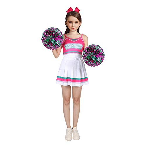 Zombies - Vestidos de animadora con pompones Rosa rosa (b) 7-8 Aos