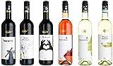 Herkunft: Europa Sechs reinsortige Weine 3x Rotweine, 1x Roséwein, 2x Weißweine