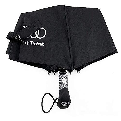 XIAOYUTOU Nuovi Grandi ombrelli aziendali di Alta qualità for Audi Parasol Manico Lungo Uomo Automatico Ombrellone Car Corporation Maschile Paraguas (Color : 002)