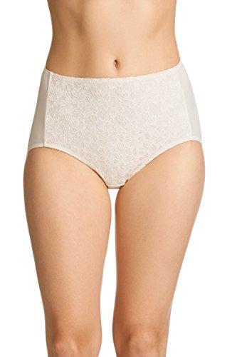 JOCKEY Women's Underwear No Ride Up Lace Full Brief, Cream, 18