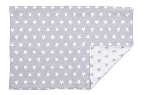 Kissenbezug Kissenhülle 40x60 cm mit Reißverschluss aus 100% Baumwolle, hergestellt in Europa (Stars)