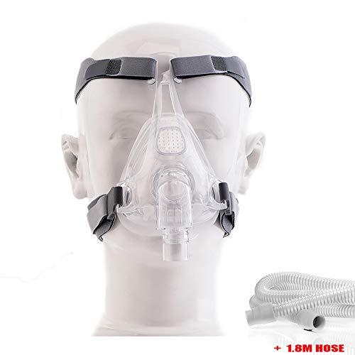 Máscara De Sueño De Cara Completa CPAP con Correa Y Manguera Ajustables para La Cabeza Máscara Facial para Máquina CPAP BIPAP De CPAP Solución De Apnea Antirronquidos