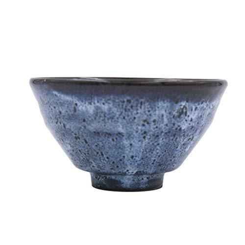 Tazón Juego de 2 cuencos de cereales azules decorados de porcelana china oriental, cuerpo de cuenco con hilo 450 ml vajillas hogar, tazón retro