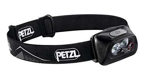 PETZL, ACTIK CORE Headlamp, 450 Lumens, Rechargeable, with CORE Battery, Black