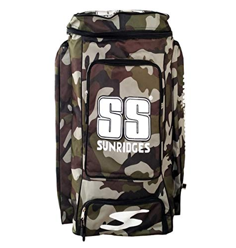 SS Camo Duffle Cricket Kit Bag - Green Color