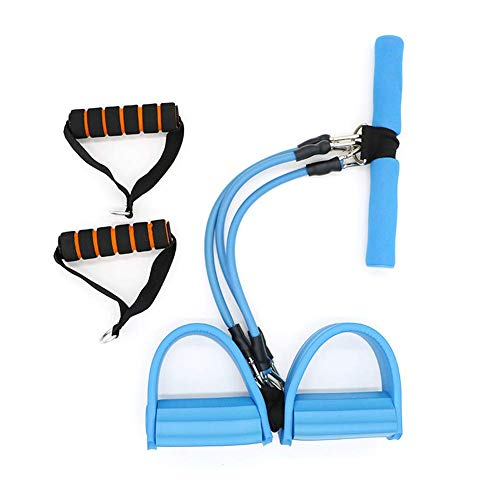 SISHUINIANHUA Weight Loss Pull Rope Bauchtrainer mit Griff Resistance Band Multifunktions-Beintrainer Pull-up Exerciser Sit-up Exerciser