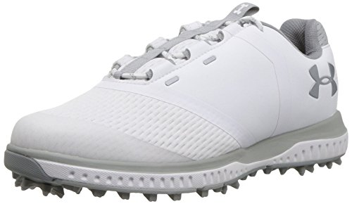 Under Armour Women's Fade RST Golf Shoe, White (102)/Overcast Gray, 5
