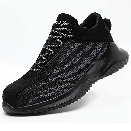 Zapatos de Trabajo Zapatos de Seguridad de Kevlar Ligero para Hombres S3 S3 Ancho Fit Toe Toe Toca Trabajo Zapatos Botas Anterior NO Habitaciones PROTIMIENTOS Protectores DE Zapatillas industriales