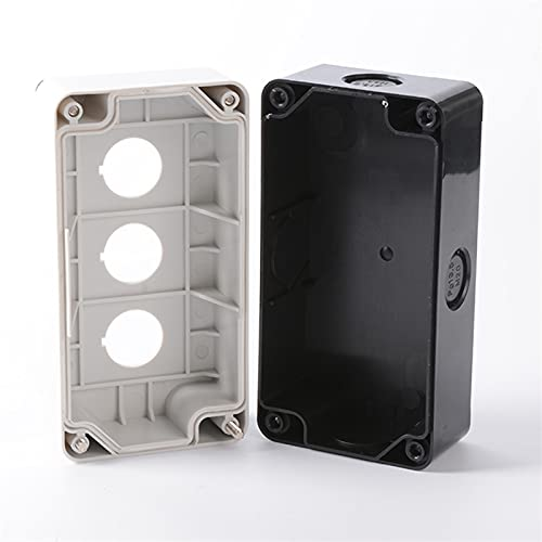 Caja derivación estanca, 1 unids Botón a prueba de agua, cuadro de control del interruptor 12345 Posición del orificio Interruptor del interruptor de la industria Luz de parada de emergencia de plást