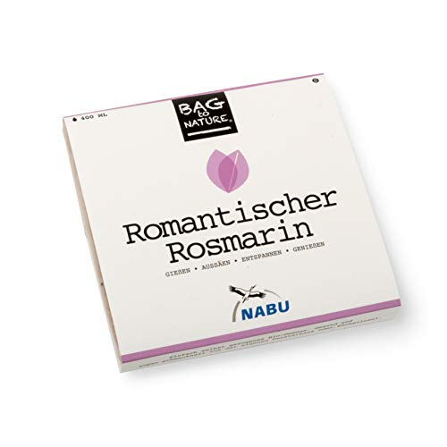 Romantischer Rosmarin BIO Samen   Anzuchtset - Bag to Nature   Rosmarin   Geschenkset   Kräuter Samen Bio
