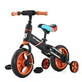 Laufräder Laufrad Mit Stützrädern und Pedalen, 4-in-1-Kinderdreirad für Jungen und Mädchen im...