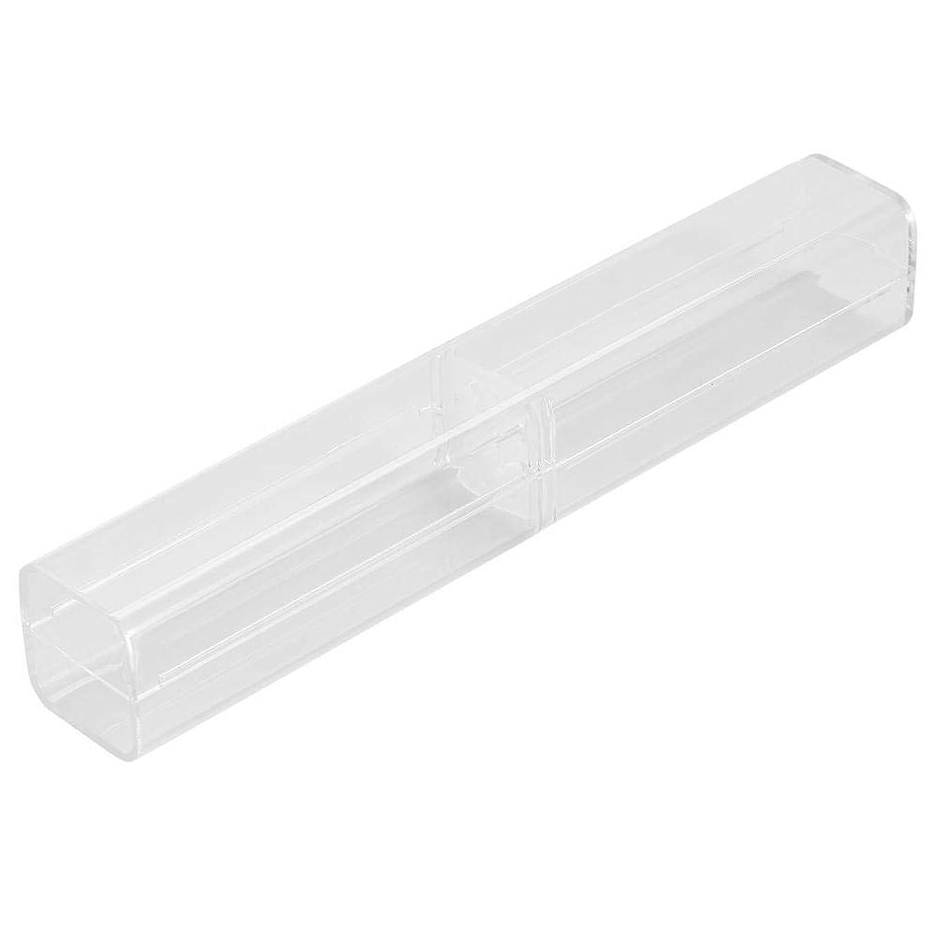 かりて合金返還1ピース収納ボックス - 手動ペン眉毛タトゥークリアケース透明収納ボックス、収納ボックス - タトゥーコンテナ