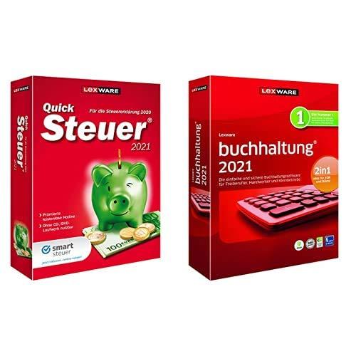 Lexware QuickSteuer 2021 (Minibox | basis Version) + Lexware buchhaltung 2021 (Minibox | basis Version)